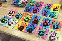 Handprint & Footprint Arts & Crafts / Ideas for creating fun handprint art and footprint crafts with kids!