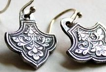 Metal Clay Earrings / Metal clay earrings created by talented metal clay artists from around the world!