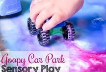 Sensory Exploration Fun / Sensory Play Activities, Sensory Bins, Small World Play, Homemade craft recipes for slime, doughs, and all kinds of ooey-gooey fun!