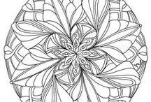 Mandaly - květinové / mandala - flower