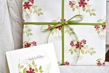 Gift wrapping / Get your Stampin' Up products out and wow your friends and family with fabulous presents - inside and out!