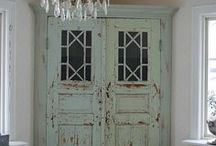 Charming old cabinets