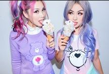 Pastel Princess / Love Care Bears? ~ Grin & Bear It with Kawaii Princesses @flamcis @ellenvlora see what they found in Coco's closet <3 itz beary cute              ~~ shop the lookz:      http://www.dollskill.com/dolls/kawaii-clothing.html  ~   http://www.dollskill.com/shop/iron-fist.html