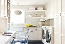 Laundry Rooms / Stylish Laundry Room Ideas and Orginizational Tips and Tricks.