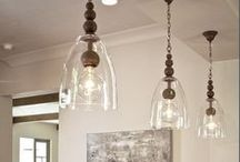 Lighting / Lamps, Chandeliers, DIY, Crafts and Decorative Ideas: all of the ways to use lighting in your home.