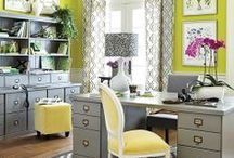 Home Office / If you have the room in your home to create a home office, get some great ideas for decor and organization here.