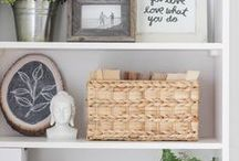 Shelf Styling / How to Decorate Book Shelves: Inspirational Book Shelf Styling Ideas / by Remodelaholic