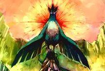My Favourite Pokémons / Lucario Latias Litten Zorua Milotic Suicune Articuno Scizor Mega Absol Glaceon Mew(two)