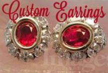 Custom Earrings / Earrings Custom Made by Images Jewelers