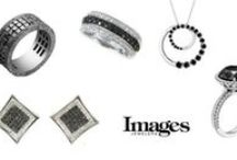 Black and White Diamonds / Beautiful jewelry from Images Jewelers that feature black and white diamonds.
