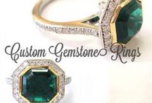 Custom Gemstone Rings  / Custom Gemstone Rings Made By Images Jewelers Custom jewelry isn't always about diamonds. Our gemologists select the finest emeralds, rubies, sapphires and more gems to be included in our jewelry designs. Looking for something even more unique? We can do that too, the only limit is your imagination.