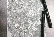 ZENTANGLE / #Doodle