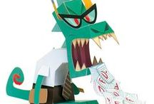 Papertoy Monsters / Rawr! Sharing some of our favorite monsters (great for craft hour with the kids)!