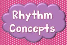Rhythm Concepts / Board of ideas for teaching rhythm in music class