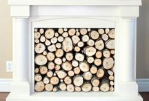 f i r e • p l a c e / Would love to have a real fireplace but just the mantel will do!!