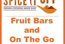 Fruit Bars and On The Go Snacks / Healthy on the go bar recipes ideal travel snack recipes and ideas. Great as finger food and healthy toddler treats.