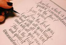 Tipografia, Caligrafia e Lettering (Typography, Caligraphy and lettering) / by Rafaela Luiz
