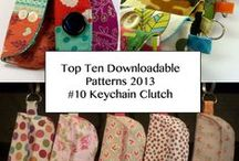 MICHELLE PATTERNS KEYCHAIN CLUTCH / Keychain Clutch Pattern from MIchelle Patterns - Top Ten Downloadable Sewing Patterns from 2013