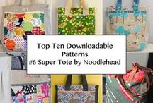 NOODLEHEAD SUPER TOTE / Super Tote Pattern from Noodlehead - Top Ten Downloadable Sewing Patterns fro 2013 / by Pink Chalk Fabrics - Modern Quilt Fabric and Sewing Patterns