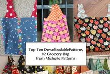 MICHELLE PATTERNS GROCERY BAG / Grocery Bag from Michelle Patterns - Top Ten Downloadable Sewing Patterns from 2013 / by Pink Chalk Fabrics - Modern Quilt Fabric and Sewing Patterns