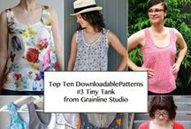 GRAINLINE STUDIO TINY POCKET TANK / Top Ten Downloadable Sewing Patterns from 2013 - #3 Tiny Pocket Tank from Grainline Studio.