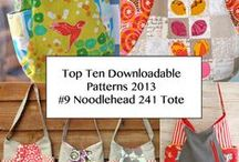 NOODLEHEAD 241 BAG / 241 Bag Pattern from Noodlehead - Top Ten Downloadable Sewing Patterns for 2013 / by Pink Chalk Fabrics - Modern Quilt Fabric and Sewing Patterns