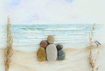 Pebble & Sea Glass Art