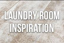 Laundry Room Inspiration / Small or large, get inspiration for organizing, cleaning and decorating your laundry room!