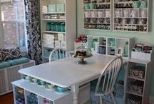 Home Office and Craft Room Ideas / Craft Room and Home Office Ideas