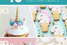 Unicorn and Rainbows Theme Party and Shower Ideas / Unicorn and Rainbows Theme Party and Shower Ideas