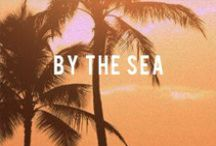 B Y | T H E | S E A / By the beach, on the sand, a place to listen to the sea.