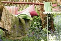 Katia in the garden / Modelos e ideas para disfrutar tejiendo al aire libre   Models and handmade ideas to enjoy knitting outside