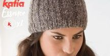 1 ball = 1 hat, cowl or shawl / Hats, shawls and neck warmers patterns knitted with only a ball of yarn   Patrones de gorros, chales y cuellos tejidos con un único ovillo de Katia