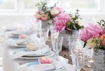 Looks We Love - Spring Pastels / Delicate, pastel colors, mixed with florals and white linens.