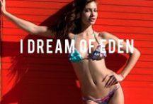 I   D R E A M   O F   E D E N / Our I Dream of Eden Collection spotted on the beaches of So Cal! Model : Yara Photography : Clint Padilla Shop online! SanLorenzoHawaii.com