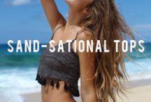 ⧖  SAND-SATIONAL T O P S  ⧖ / Tops available at San Lorenzo Bikinis
