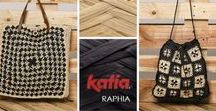 Bags Bolsos Sacs Taschen / Discover the huge diversity of knitting and crochet accessories #madewithKatia: rucksacks, baskets, straw type shopping bags, clutches, handbags and crochet bags.
