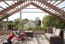 Pergolas, Awnings and Arbors / The overhead plane.