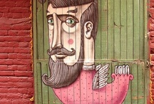 Facing Out / What is it that makes people put faces on doors?  Fascinating.   / by Susan Cohan