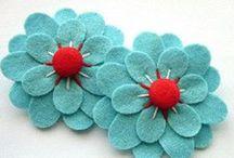 Flower Power x / DIY fabric & paper flowers