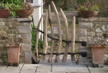 Rustic Gates and Fences / Garden Design Details - Rustic garden gates and fences in all materials. / by Susan Cohan