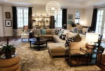 living room with sectional / living room idea for sectional sofa, pillows, coffee table