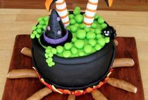 Halloween cakes and food