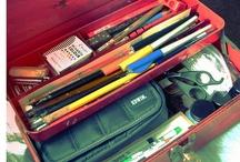 toolbox repurpose  / I recently found a vintage toolbox at an estate sale, cleaned it up, making it into a go to for all of the calligraphy and sketching pens and pencils I am using at the moment.  So, I wanted to see what some others were up cycling theirs into.