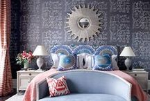 Beautiful Bedrooms / Beautiful bedrooms, elegant bedrooms, sexy bedrooms, Eclectic bedroom, beds, window treatments, carpets and accessories, lighting & art to create the bedroom of your dreams