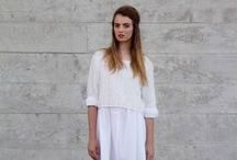 Indie Fashion / Hot Trends for 2014-15 Summer Womens Fashion. Dresses and Separates. Layers. Chambray. White. Grey