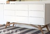 {DIY} Furniture Makeovers / How to upgrade furniture I already have or make something nice for cheap. / by Allie Olsen {Fab Fixes}