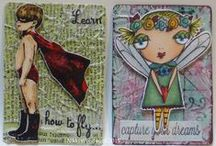 Craftiness - My Altered Playing Card Challenge / On 1 Sept 2014 Claudine Criner began an altered playing card challenge. I am playing ..... Here are my weekly creations. More info about the challenge on Claudines blog : http://claudinesartcorner.blogspot.ca/