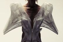 """Digital sartorial fashion / """"The incredible possibilities afforded by these new technologies allowed us to reinterpret the tradition of couture as """"tech-couture"""" where delicate hand-made embroidery and needlework is replaced by code."""" Neri Oxman from MIT's* Media Lab"""