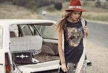 senior style : boho / Boho styling - lots of mixed patterns, flowy fabrics, + tons of jewelry